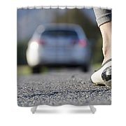Foot And Car Shower Curtain
