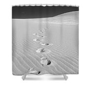 Foot Prints In White Sands 1 Shower Curtain