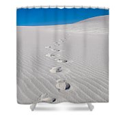 Foot Prints In White Sands 2 Shower Curtain