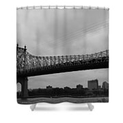 Foot Traffic On The Bridge Only Shower Curtain