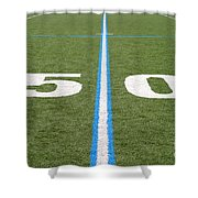 Football Field Fifty Shower Curtain