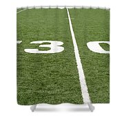 Football Field Thirty Shower Curtain