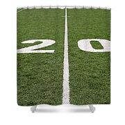 Football Field Twenty Shower Curtain
