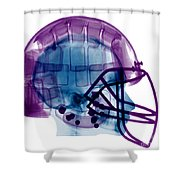 Football Helmet X-ray Shower Curtain