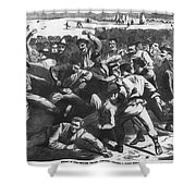 Football: Soldiers, 1865 Shower Curtain