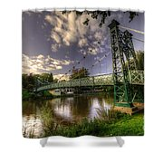 Footbridge Over The Severn  Shower Curtain