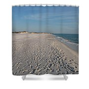 Footprints In The Sand Shower Curtain