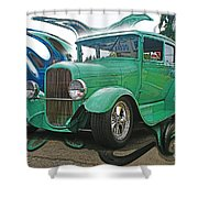 Ford Abstract Shower Curtain