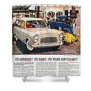 Ford Avertisement, 1959 Shower Curtain