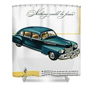 Ford Lincoln Ad, 1946 Shower Curtain