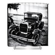 Ford Model T Film Noir Shower Curtain