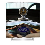 Ford Model T Hood Ornament Shower Curtain