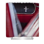 Ford Mustang Dash Emblem Shower Curtain