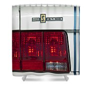 Ford Shelby Cobra Gt 500 Taillight Shower Curtain