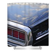 Ford Thunderbird Taillight Shower Curtain