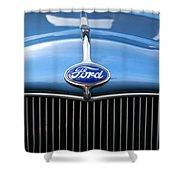 Ford Truck Emblem Shower Curtain