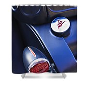 Ford V8 Taillight And Gas Cap Shower Curtain