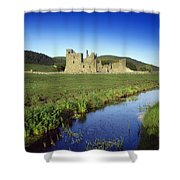 Fore Abbey, Co Westmeath, Ireland Shower Curtain