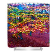 Forest Color Leaves Shower Curtain