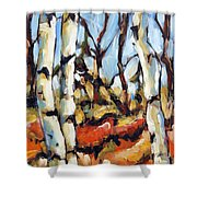 Forest Edge By Prankearts Shower Curtain