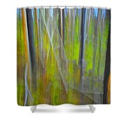 Forest Impression Photographic Image Yellowstone No. 2135. Shower Curtain