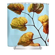 Forest Pansy Autumn Shower Curtain