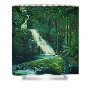 Forest Waterfall Shower Curtain