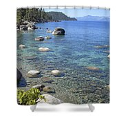 Forested Shores Of Lake Tahoe Shower Curtain