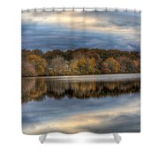 Forge River In Fall Shower Curtain