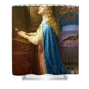 'forget Me Not' Shower Curtain