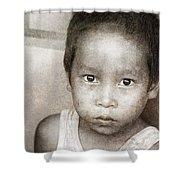 Forgotten Faces 12 Shower Curtain