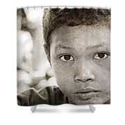 Forgotten Faces 15 Shower Curtain