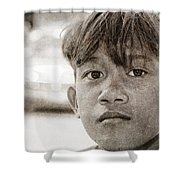 Forgotten Faces 16 Shower Curtain