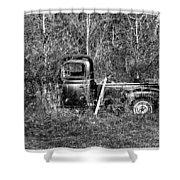 Forgotten Treads Shower Curtain