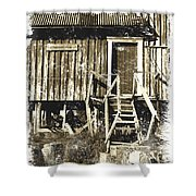 Forgotten Wooden House Shower Curtain