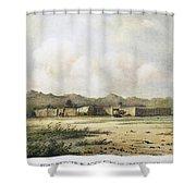 Fort Bridger, Wyoming, 1852 Shower Curtain