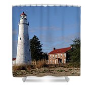 Fort Gratiot Lighthouse Shower Curtain