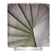 Fort Knox Granite Spiral Staircase Shower Curtain