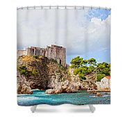 Fort Lovrijenac In Dubrovnik Shower Curtain