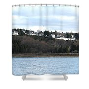 Fort Mackinac And The Governor's Summer Residence Shower Curtain