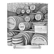 Fort Macon Food Supplies Bw 9070 3759 Shower Curtain by Michael Peychich