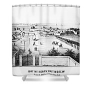 Fort Mchenry, 1862 Shower Curtain