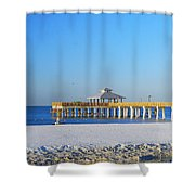 Fort Myers Beach Pier Shower Curtain