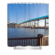 Fort Myers Bridge Shower Curtain