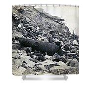 Fort Sumter Civil War Debris - C 1865 Shower Curtain