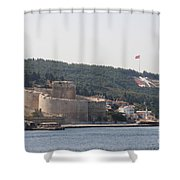 Fortress Canakkale And War Memoriel - Dardanelles Shower Curtain