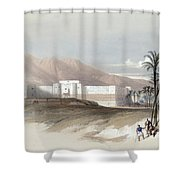 Fortress Of Akabah Arabia Petra 1839 Shower Curtain
