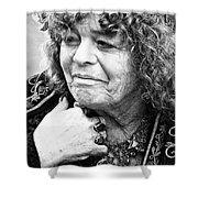 Fortune Teller Black And White Shower Curtain