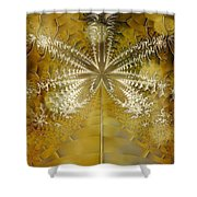 Fossil Gold Shower Curtain