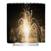Fountain Firework Shower Curtain